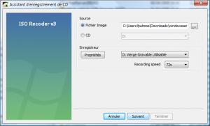 Graver une image ISO sous VISTA avec ISO RECORDER