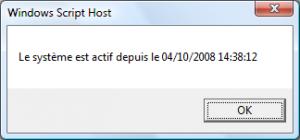 Connaitre la date de reboot d\'un serveur Windows en VBScript avec WMI