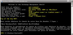 Interpréteur Powershell pour Exchange afin de lancer des cmdlets dédiées Exchange 2007