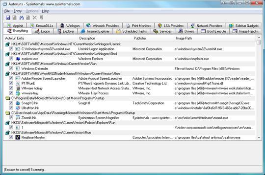 autoruns 1 10 outils de troubleshooting pour les systèmes Windows