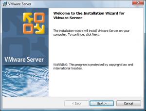 vmware site install1 300x227 Comment installer VMware Server ?
