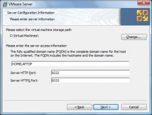 vmware site install4 300x227 Comment installer VMware Server ?