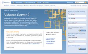 vmware site register 300x184 Comment installer VMware Server ?
