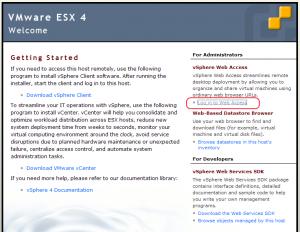 Console VMware