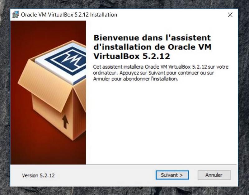 Installation de VirtualBox