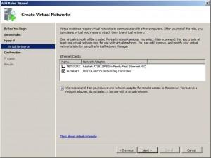 Création d'un réseau virtuel Hyper-V