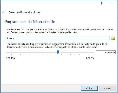 Emplacement du vDisk dans VirtualBox