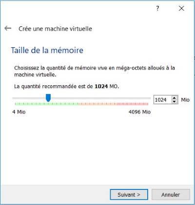 Indiquer la quantité de RAM utilisée par la VM
