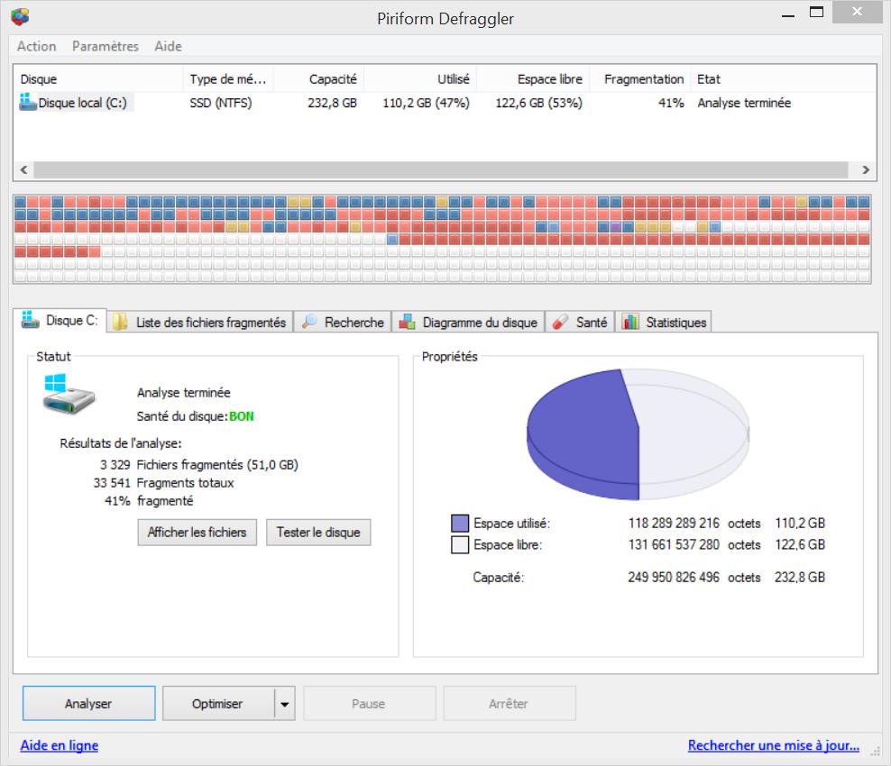 Défragmenter votre disque dur avec Defraggler