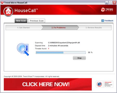 HouseCall - L'antivirus en ligne de Trend Micro