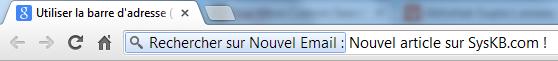 Raccourci Chrome