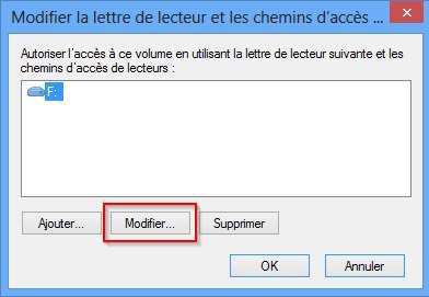 """Modifier la lettre d""""un lecteur USB"""
