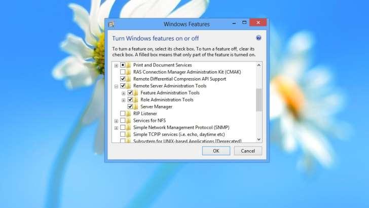Supprimer une fonctionnalité sur Windows 8