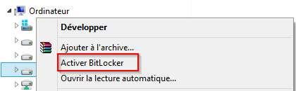 Activer BitLocker