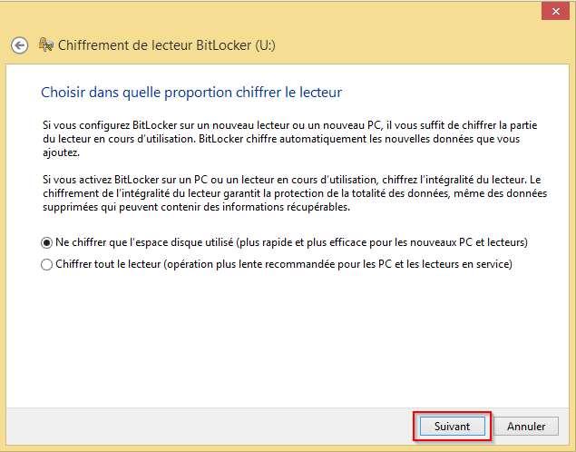 Méthode de chiffrement BitLocker