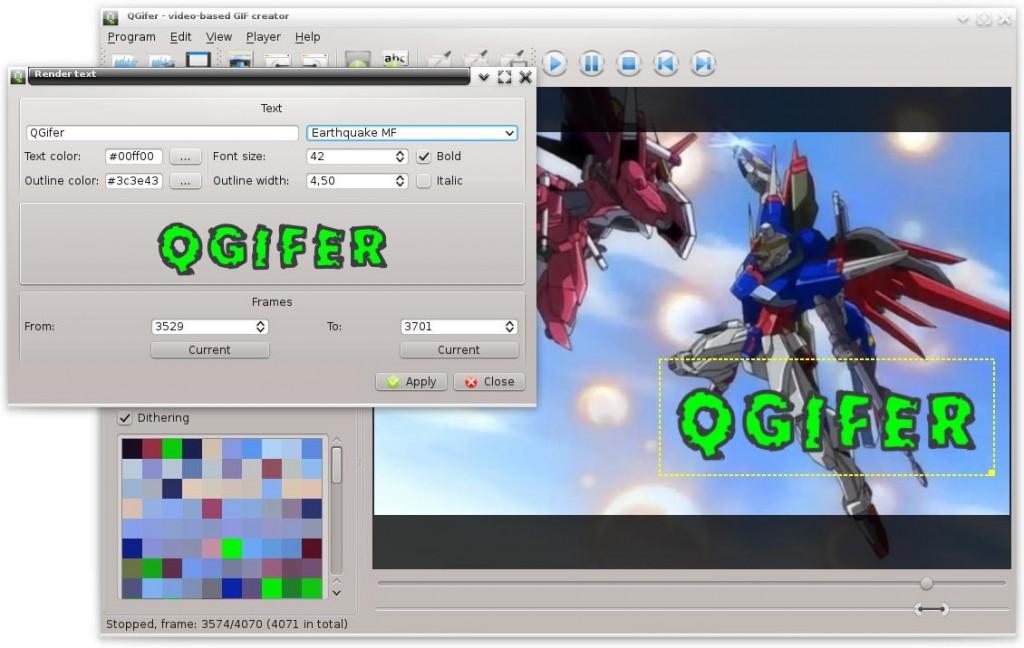 QGifer - A video-based animated GIF creator