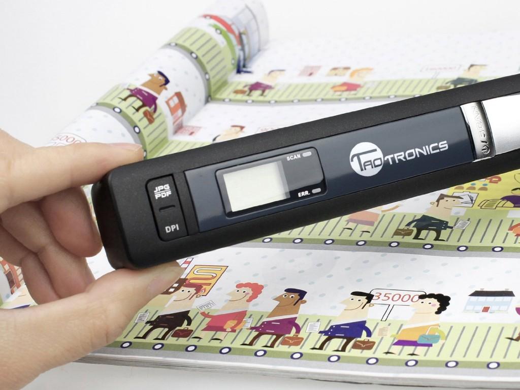 Mini Scanner de Poche Haute Resolution Portable Cordless 900 DPI, Format fichier:JPEG/PDF