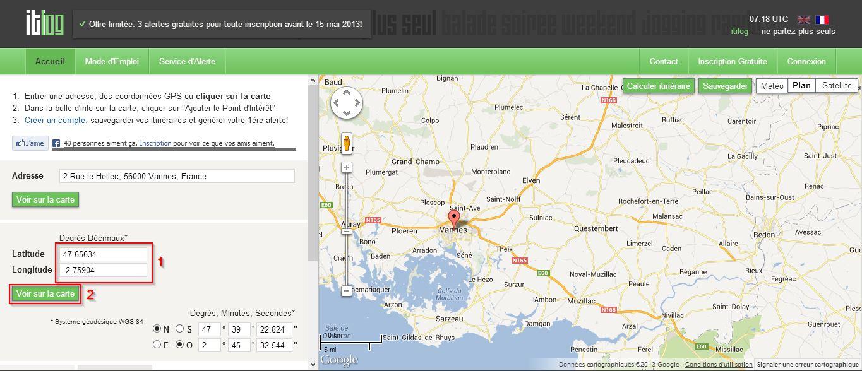Retrouver une adresse à partir des coordonnées GPS
