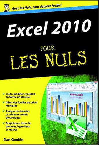Les 7 livres d'informatique les plus vendus en 2013 - Excel 2010 pour les nuls