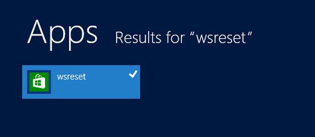 Résultat de recherche dans Windows 8