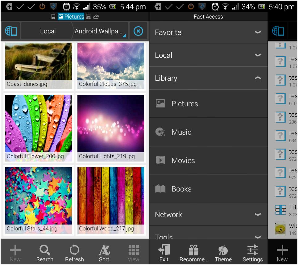 Un explorateur de fichiers pour Android - ES File Explorer