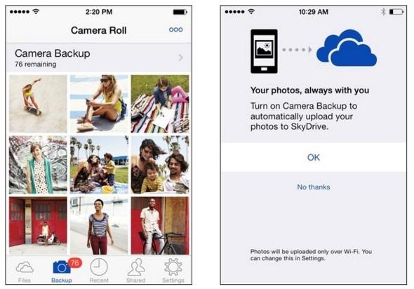Sauvegardez automatiquement les photos de votre iPhone / iPad sur SkyDrive