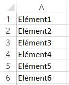 Créer une liste dans Excel 2013
