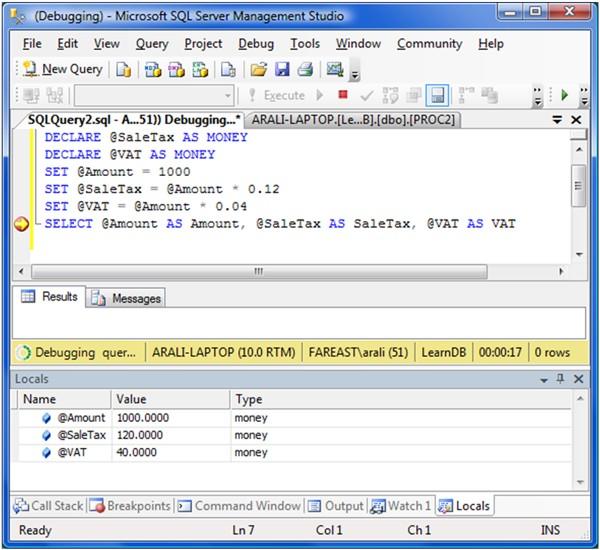 Le Transact SQL pour les nuls - Management Studio