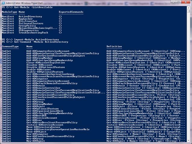 Administrer Active Directory en Powershell