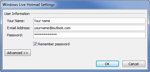 Ajouter son compte Outlook.com dans Outlook 2003 / 2007 / 2010