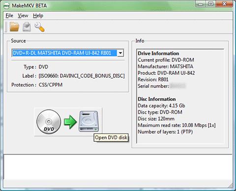 Ripper le Blu-ray avec le logiciel libre MakeMKV