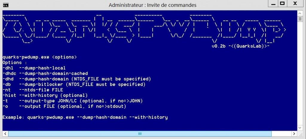 Extraire les mots de passe Windows avec Quark Pwdump