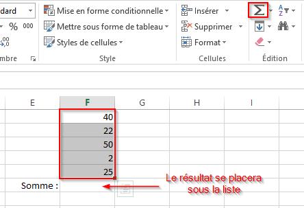 Comment effectuer une somme automatique en 1 clic dans Excel
