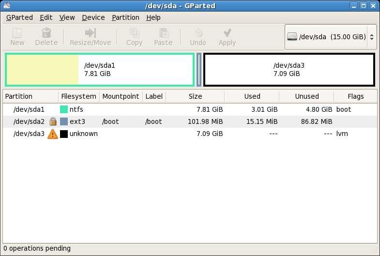 Réduire la taille de la partition système