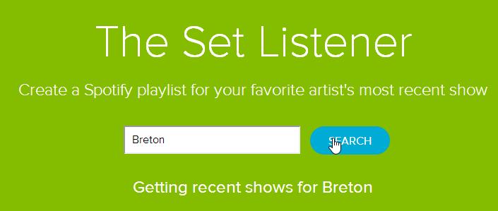 Créer une playlist Spotify avec les titres les plus récents d'un artiste