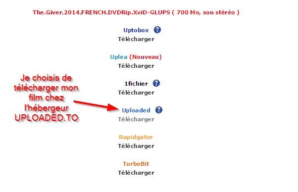 Sélectionner un hébergeur de téléchargement direct DDL