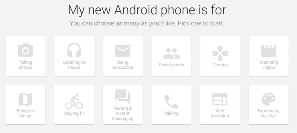 Trouvez le smartphone Android qu'il vous faut grâce à Google