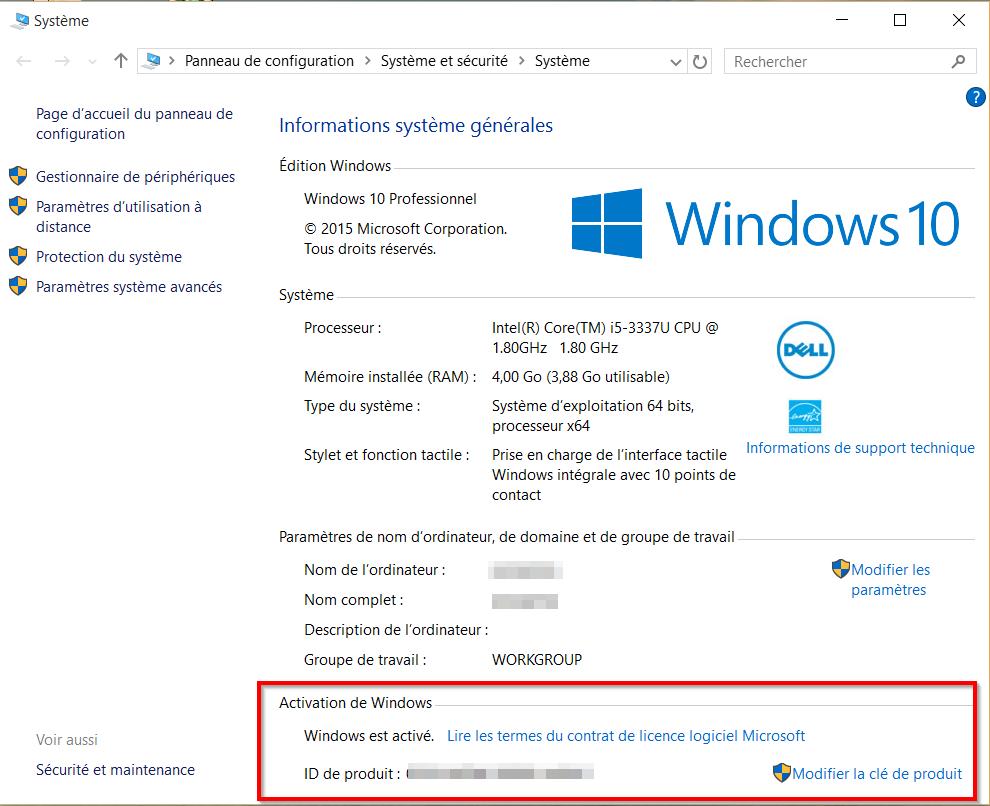 activation windows 10