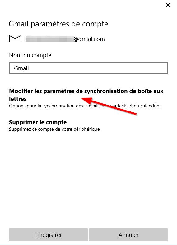 Application Courrier - Pamarètres Suite