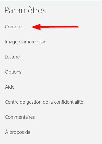 Courrier - Comptes