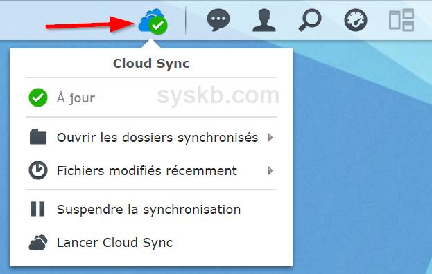 Icône Cloud Sync sur DSM 5.2