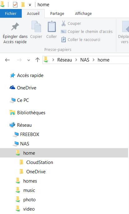 Verification du partage depuis Windows 10