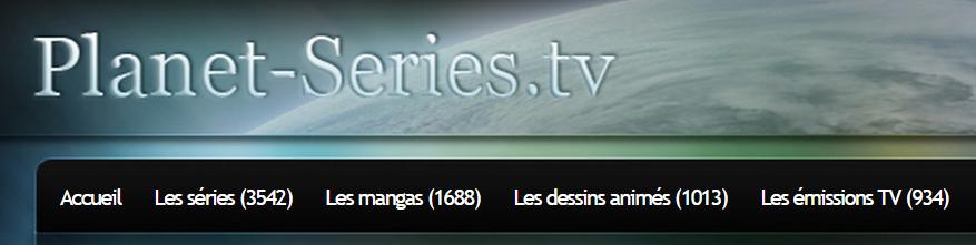 Menu de recherche de séries