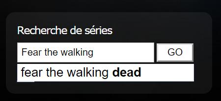 Moteur de recherche de séries