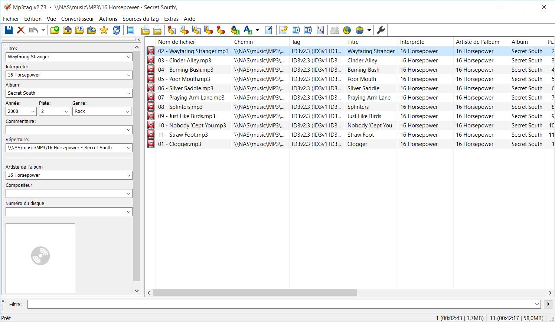 MP3TAG pour éditer les méta tags de vos MP3