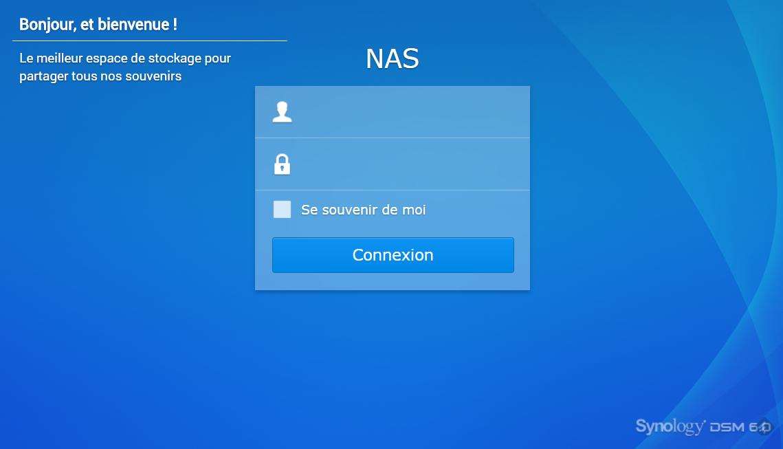 NAS - Synology - DSM6.0 - Mise à jour - 5