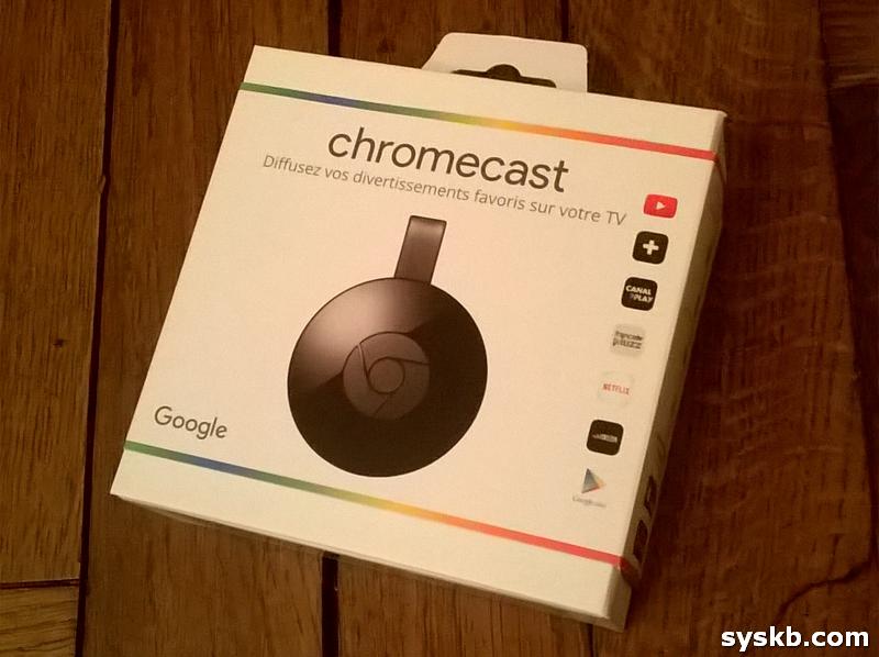 La boite du Chromecast 2