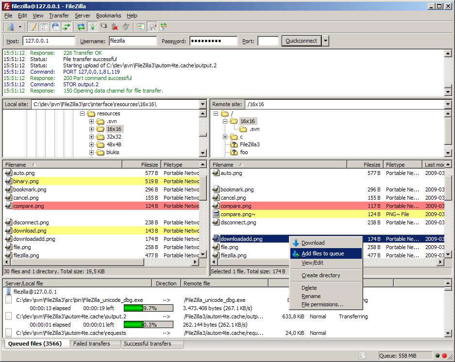 Client FTP Gratuit : Filezilla