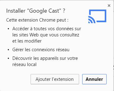 Installer Google Cast 2