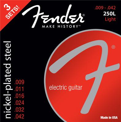 Fender 250L-3-packs Guitar Strings